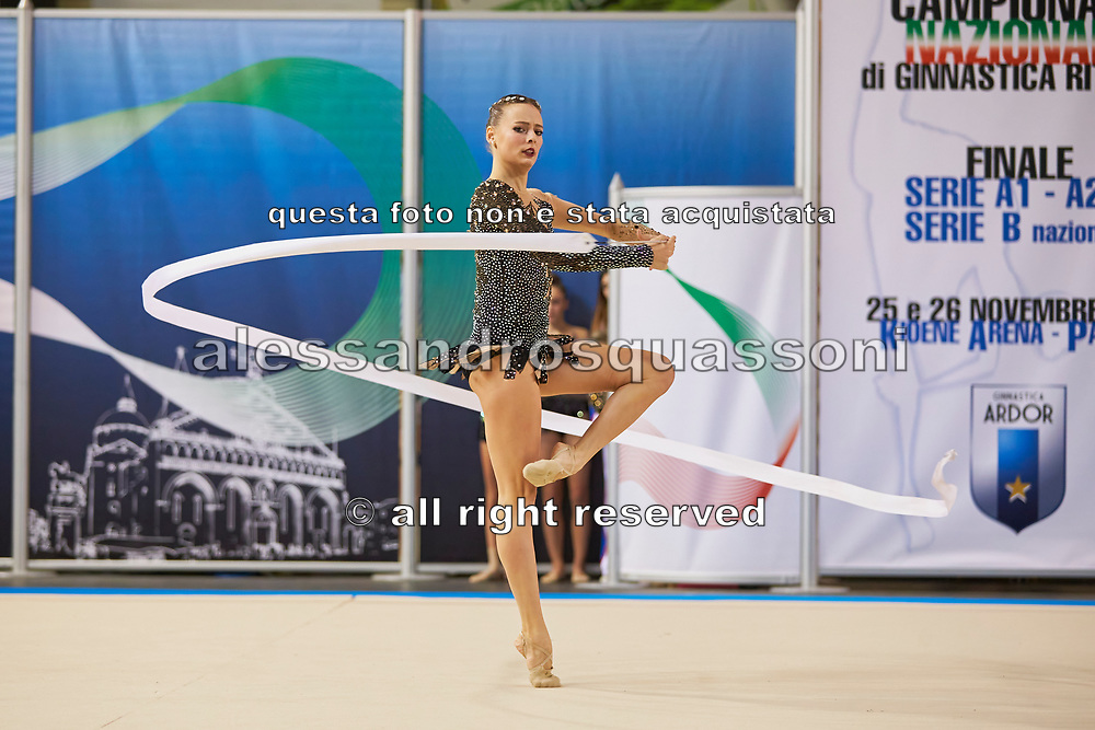 Nicol Ruprecht from Terranuova team during the Italian Rhythmic Gymnastics Championship in Padova, 25 November 2017.