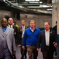 JACKSONVILLE, Fla, (November 8, 2012) -- NFL commissioner Roger Goodell arrives with entourage at the stadium during a NFL game between the Jacksonville Jaguars and Indianapolis Colts in Jacksonville, Fla., on Thursday, November 8, 2012.   (PHOTO / CHIP LITHERLAND)
