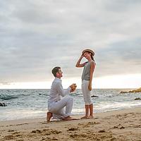 Monica's engagement proposal at Playa Conchas Chinas, Puerto Vallarta, Mexico. Photo by: Juan Carlos Calderón.