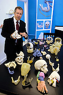 Larry Ward, CEO, Anatomics, at the company's production facility at the NC Research Campus in Kannapolis, NC.  These are patient-specific 3-dimensional models of body parts, known as BioModels. They are .made from CT scans, which surgeons use as a visual and tactile aid when diagnosing conditions and planning for surgery.