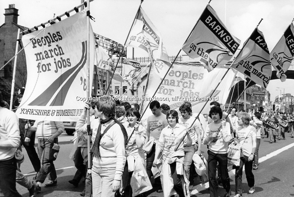 Peoples March for Jobs, Sheffield. 6th May 1983.