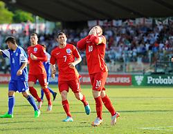 Wayne Rooney of England (Manchester United) celebrates putting England 1 up and equaling England's goals scored record  - Mandatory byline: Joe Meredith/JMP - 07966386802 - 05/09/2015 - FOOTBALL- INTERNATIONAL - San Marino Stadium - Serravalle - San Marino v England - UEFA EURO Qualifers Group Stage