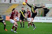 during the Sky Bet League 2 match between Northampton Morecambe Midfielder Kevin Ellison Town and Morecambe at Sixfields Stadium, Northampton, England on 23 January 2016. Photo by Dennis Goodwin.