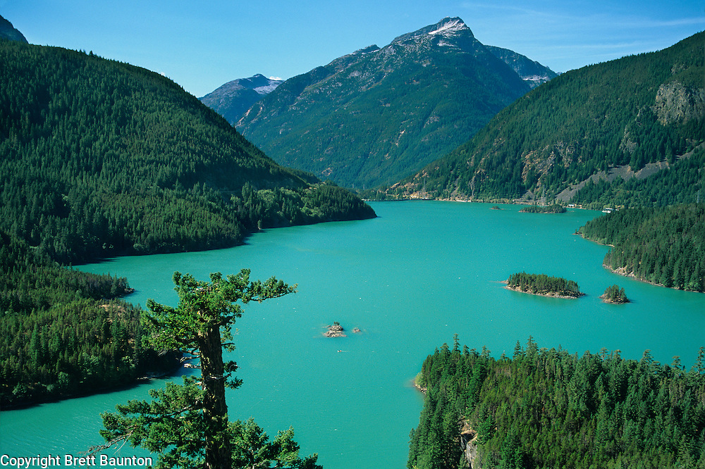 Diablo Lake, North Cascades, North Cascades Highway overlook, Washington