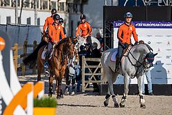 Team Netherlands, <br /> European Championship Jumping<br /> Rotterdam 2019<br /> © Hippo Foto - Dirk Caremans