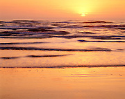 0505-1022 ~ Copyright: George H. H. Huey ~ Sunrise over Gulf of Mexico. Padre Island National Seashore, Texas.