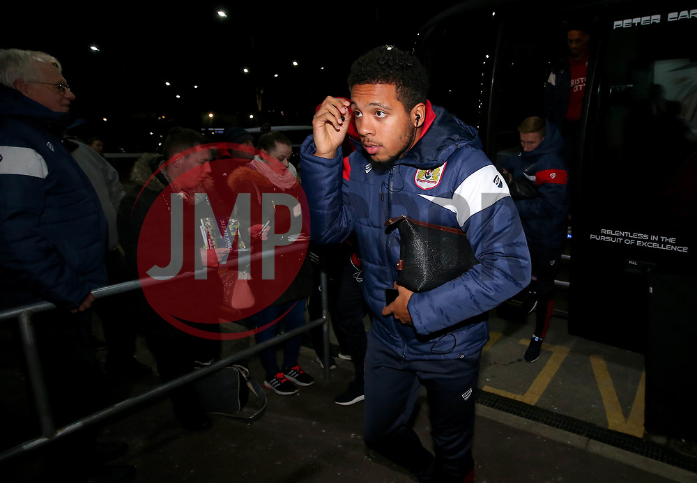 Korey Smith of Bristol City arrives at Bramall Lane for the fixture against Sheffield United - Mandatory by-line: Robbie Stephenson/JMP - 08/12/2017 - FOOTBALL - Bramall Lane - Sheffield, England - Sheffield United v Bristol City - Sky Bet Championship