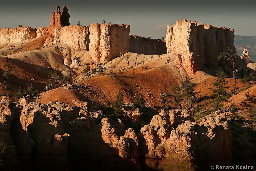 An sunset view of Bryce Canyon, Utah, USA