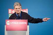 2013/02/07 Roma, manifestazione ' Le parole dell'Italia giusta ' promossa dal PD. Nella foto Adriano Sofri.Meeting ' Words of the right Italy ' promoted by Democratic Party. In the picture Adriano Sofri