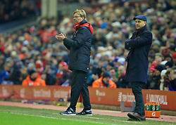 LIVERPOOL, ENGLAND - Wednesday, January 20, 2016: Liverpool's manager Jürgen Klopp during the FA Cup 3rd Round Replay match against Exeter City at Anfield. (Pic by David Rawcliffe/Propaganda)