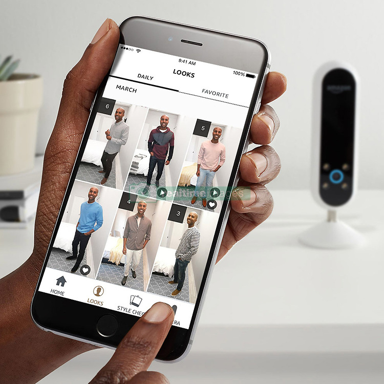 """April 28, 2017 - inconnu - On-line retailer Amazon has released a personal robot stylist that helps customers decide what to wear.The Echo Look is the latest in a line of household gadgets from the company designed to make home life easier.The Echo Look is a camera that takes photos of outfits before rating them and giving a second opinion.It is being marketed as a fashion tool, with voice-activation allowing users to take full-length photos and short videos of their outfit choices.It follows on from Amazon's smart Alexa voice activated assistant, Alexa.The new device uses a new service named Style Check to offer feedback on the chosen look.An Amazon spokesman explained:"""" ''Style Check keeps your look on point using advanced machine learning algorithms and advice from fashion specialists.""""Submit two photos for a second opinion on which outfit looks best on you based on fit, colour, styling and current trends.''''Over time, these decisions get smarter through your feedback and input from our team of experienced fashion specialists.''As users build up their lookbooks with pictures and videos, the device is able to recommend new brands and styles inspired by recurring outfits.For peace of mind, a button on the side turns off both the camera and the always-listening microphone. As well as offering style advice, the Echo Look performs the same duties as Amazon's other Echo devices – first launched in 2014 – and can devise travel routes, read headlines or play music.Currently, the Echo Look is only able to purchase by invitation for $200 USD in the US / €184 Euros / £155 GBP It is not yet known if the company will roll out the device to the general public at a later date. # AMAZON LANCE 'ECHO LOOK' POUR AIDER A MIEUX S'HABILLER (Credit Image: © Visual via ZUMA Press)"""