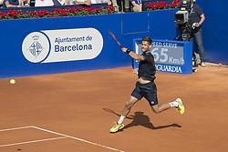 April 27, 2018 - Barcelona, Barcelona, Spain - MARTIN KLIZAN during a match against RAFAEL NADAL in the Barcelona Open Banc Sabadell 2018. RAFAEL NADAL won the match 6-0 7-5. (Credit Image: © Patricia Rodrigues/via ZUMA Wire via ZUMA Wire)