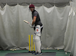 Somerset's Jamie Overton. - Mandatory byline: Alex Davidson/JMP - 25/02/2016 - CRICKET - The Cooper Associates County Ground -Taunton,England - Somerset CCC  Media access - Pre-Season