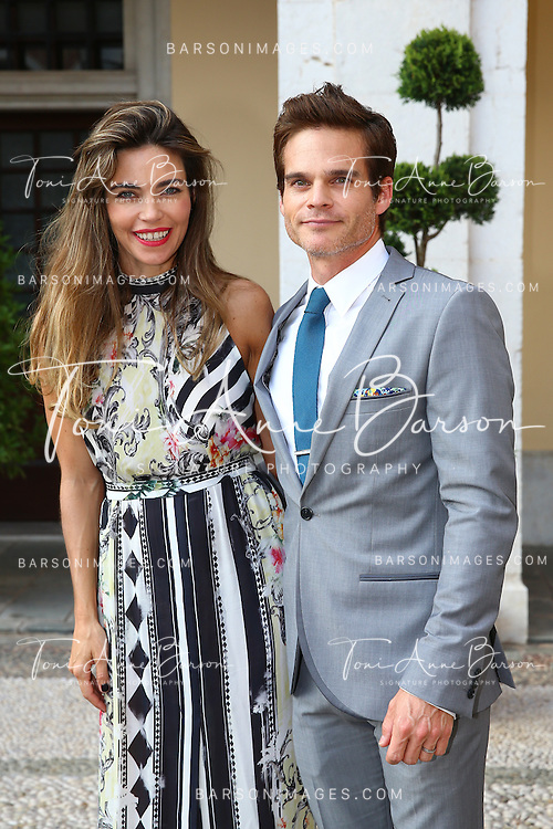 MONTE-CARLO, MONACO - JUNE 09:  Amelia Heinle and Greg Rikaart attend a Cocktail Reception at Monaco Palace on June 9, 2014 in Monte-Carlo, Monaco.  (Photo by Pool Barson/FilmMagic)