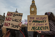 20 Feb 2017 - Hundreds march on Parliament as MP's debate Trump State visit.