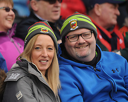 Liz and Niall O'Neill from Swinford at McHale park for the Mayo v Kerry national football league encounter. Pic Conor McKeown