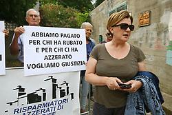 MILENA ZAGGIA<br /> UDIENZA PROCESSO CARIFE CASSA RISPARMIO DI FERRARA A PONTELAGOSCURO