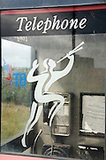 British Telecommunications piper logo phone box