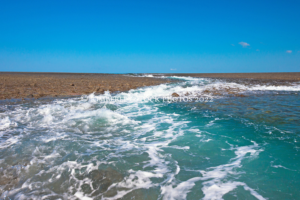 Water drains off Montgomery Reef in the Kimberley's Collier Bay.