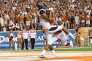 AUSTIN, TX - SEPTEMBER 19:  Kenny Lawler #4 of the California Golden Bears catches a touchdown against the Texas Longhorns on September 19, 2015 at Darrell K Royal-Texas Memorial Stadium in Austin, Texas.  (Photo by Cooper Neill/Getty Images) *** Local Caption *** Kenny Lawler