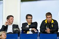 ARNHEM - Vitesse - Excelsior, Eredivisie, seizoen 2010-2011, 15-05-2011, Gelredome, Technisch directeur Ted van Leeuwen (M), assistent coach Gerry Hamstra (L), Vitesse speler Marcus Pedersen (R).