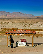 Boulder, Nevada, USA, January 18th 2008:  Lake Mead, part of the Colorado River system, is at a record low level, suffering from years of drought.<br /> <br /> <br /> <br /> A fish cleaning station that used to be at the waterfront now sits on high ground.<br /> <br /> <br /> <br />  *** Local Caption ***