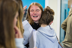 © Licensed to London News Pictures . 24/08/2017 . Rochdale , UK . Students at Oulder Hill Community School collect their GCSE exam results . Photo credit : Joel Goodman/LNP