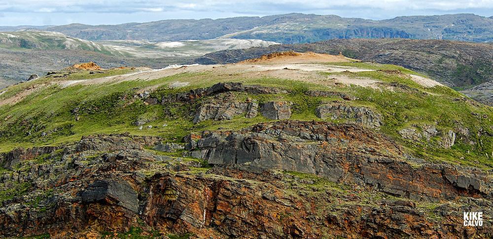 Landscape around the Nunavut community of Kimmirut, The fishing community of Kimmirut