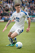 Cole Stockton (Tranmere Rovers) during the Vanarama National League second leg play off match between Tranmere Rovers and Aldershot Town at Prenton Park, Birkenhead, England on 6 May 2017. Photo by Mark P Doherty.