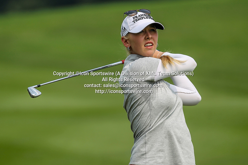10 October 2015: Jessica Korda  of Unites States of America  play a shot during the third round of the 2015 Sime Darby LPGA Malaysia at Kuala Lumpur Golf and Country Club in Kuala Lumpur, Malaysia.  (Photo by Hazrin Yeob Men Shah/Icon Sportswire)