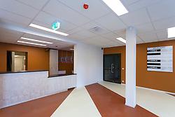 H. Eller music school, college in Tartu, Estonia. Empty corridor, wardrobe.