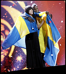 Bildnummer: 58036777  Datum: 26.05.2012  Copyright: imago/Xinhua.(120527) -- BAKU, May 27, 2012 (Xinhua) -- Loreen (L) of Sweden, the winner of the Eurovision 2012, celebrates at the Grand Final of the Eurovision song contest in Baku, May 27, 2012. (Xinhua) (dtf) AZERBAIJAN-MUSIC-EUROVISION PUBLICATIONxNOTxINxCHN Entertainment Kultur People Musik Eurovision Song Contest Songcontest ESC Grand Prix xdp x0x premiumd 2012 quer .. 58036777 Date 26 05 2012 Copyright Imago XINHUA  Baku May 27 2012 XINHUA Loreen l of Sweden The Winner of The Eurovision 2012 celebrates AT The Grand Final of The Eurovision Song Contest in Baku May 27 2012 XINHUA  Azerbaijan Music Eurovision PUBLICATIONxNOTxINxCHN Entertainment Culture Celebrities Music Eurovision Song Contest Song Contest Esc Grand Prix XDP x0x premiumd 2012 horizontal  Loreen of Sweden celebrates Winning The Eurovision 2012 at The Grand Final of The Eurovision Song Contest in Baku, Azerbaijan, Saturday May 27 2012. Photo By imago/i-Images