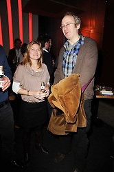LAETITIA RUTHERFORD and playwright MALACHI SMITH at a party to celebrate the publication of Mexican Food Made Simple by Thomasina Miers held at Wahaca, Westfield Shopping Centre, London on 2nd February 2010.