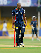 Aaron Phangiso of Highveld Lions during a practice session before the start of match 4 of the Karbonn Smart Champions League T20 (CLT20) 2013  between The Highveld Lions and the Perth Scorchers held at the Sardar Patel Stadium, Ahmedabad on the 23rd September 2013<br /> <br /> Photo by Pal PIllai-CLT20-SPORTZPICS  <br /> <br /> Use of this image is subject to the terms and conditions as outlined by the CLT20. These terms can be found by following this link:<br /> <br /> http://sportzpics.photoshelter.com/image/I0000NmDchxxGVv4