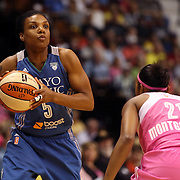 Tan White, Minnesota Lynx, in action during the Connecticut Sun Vs Minnesota Lynx, WNBA regular season game at Mohegan Sun Arena, Uncasville, Connecticut, USA. 27th July 2014. Photo Tim Clayton