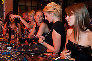 ELIZABETH VON GUTMANN; FIONA SCARRY; ?, Prada Congo Benefit party. Double Club. Torrens Place. Angel. London. 2 July 2009.