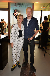 TigerLily Taylor and guest at the Emporio Armani YOU fragrance launch at Sea Containers, 18 Upper Ground, London England. 20 July 2017.<br /> Photo by Dominic O'Neill/SilverHub 0203 174 1069 sales@silverhubmedia.com