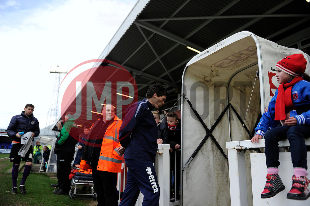 A dejected Darrell Clarke formally of Hartlepol United leave the pitch - Photo mandatory by-line: Dougie Allward/JMP - Mobile: 07966 386802 15/03/2014 - SPORT - FOOTBALL - Hartlepool - Victoria Park - Hartlepool United v Bristol Rovers - Sky Bet League Two