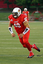 03 September 2016:  Nathan Iloilo. NCAA FCS Football game between Valparaiso Crusaders and Illinois State Redbirds at Hancock Stadium in Normal IL (Photo by Alan Look)