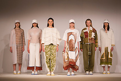 © Licensed to London News Pictures. 31/05/2014. London, England. Collection by Nina Scott-Smith from the University of Salford. Graduate Fashion Week 2014, Runway Show at the Old Truman Brewery in London, United Kingdom. Photo credit: Bettina Strenske/LNP