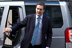© Licensed to London News Pictures. 18/09/2013. London, UK. Sporting his new haircut the British Chancellor of the Exchequer George Osborne is seen on Downing Street in London today (18/09/2013). Photo credit: Matt Cetti-Roberts/LNP