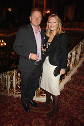 NICK JONES & KIRSTY YOUNG at a party to celebrate the launch of the 'Inde Mysterieuse' jewellery collection held at Lancaster House, London SW1 on 19th September 2007.<br />