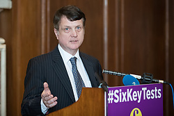 © Licensed to London News Pictures . 27/03/2017 . London , UK . GERARD BATTEN MEP answers questions from journalists after Paul Nuttall's speech setting out six tests on which UKIP will judge British Prime Minister Theresa May's Brexit negotiations , at the Marriott County Hall in Westminster . On Wednesday the British Government will trigger Article 50 of the Lisbon Treaty and commence Britain's withdrawal from the European Union . Photo credit : Joel Goodman/LNP