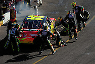 Nov. 15, 2009; Avondale, AZ, USA; NASCAR Sprint Cup Series driver Jeff Gordon pits during the Checker O'Reilly Auto Parts 500 at Phoenix International Raceway. Mandatory Credit: Jennifer Stewart-US PRESSWIRE