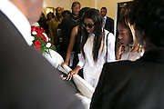 Visitors say their final goodbyes at the funeral for Jonah Barley in Rochester on Saturday, August 29, 2015. Barley was killed in a drive-by shooting on Genesee Street on August 19.