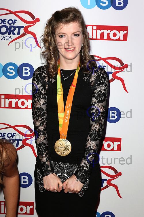 Sophie Hahn, Pride of Sport Awards, Grosvenor House Hotel, London UK, 07 December 2016, Photo by Richard Goldschmidt