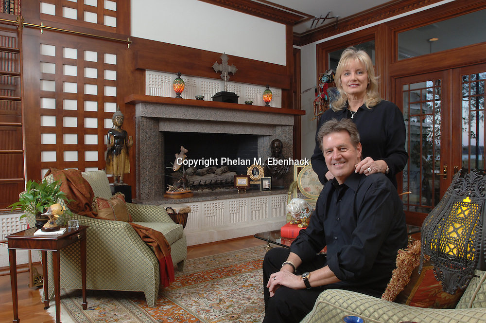 Tupperware CEO Rick Goings and his wife, Susan, in their favorite room of their home in Windermere, Florida.