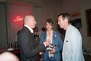 DYLAN JONES; TRACEY EMIN; OLIVER PEYTON,  VIP room during the RA summer exhibition party. Royal Academy, Piccadilly. London. 5 June 2013.