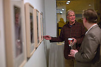 """David Letterman's  staff holiday party and photo gallery exhibition by his staff writer Steve Young entitled """"CELEBRIGUM"""" held at Ameringer McEnery Yohe Gallery  in New York. ..Photo by Robert Caplin."""