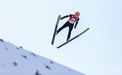 20.12.2015, Nordische Arena, Ramsau, AUT, FIS Weltcup Nordische Kombination, Skisprung, im Bild Fabian Steindl (AUT) // Fabian Steindl of Austria during Skijumping Qualification of FIS Nordic Combined World Cup, at the Nordic Arena in Ramsau, Austria on 2015/12/20. EXPA Pictures © 2015, PhotoCredit: EXPA/ JFK